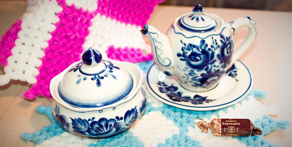 Чайник с мочалкой